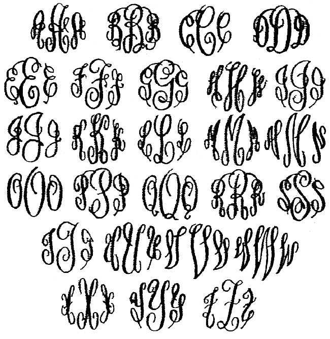 Monogram Style 15 and 15A are the SAME lettering style,: www.alansinvitations.com/guestbook-monograms_ep_51-1.html