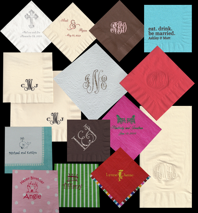 Custom Printed Napkins Logo Custom Paper Napkins Embossed