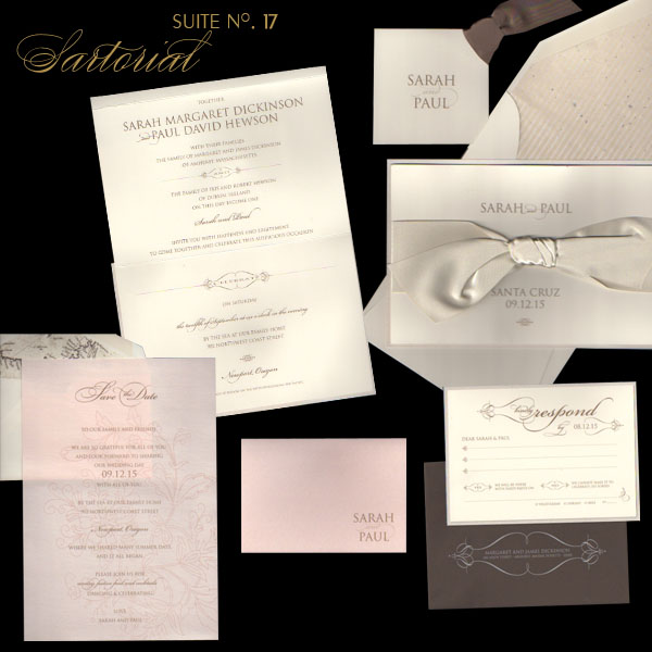 Pricing starts at 669 for 100 wedding invitations Sartorial Suite No 17